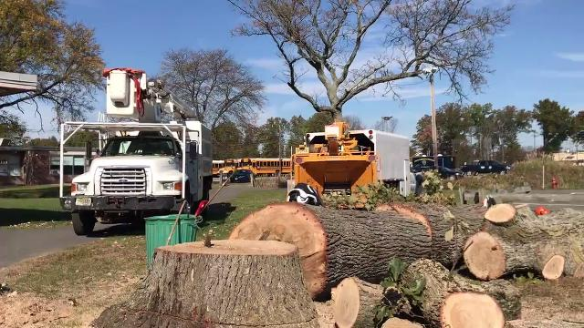 Nearly 300 volunteers celebrated the 10th anniversary of the award-winning One Day One School program by planting an extreme makeover on the campus of Hanover Park High School. IPHONE VIDEO BY WILLIAM WESTHOVEN OCT. 28, 2017