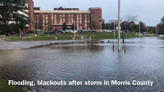 A soaking rain storm and winds that started on Sunday and continued Monday morning caused major power outages, flooding and even some school closures in Morris County. IPHONE VIDEO BY WILLIAM WESTHOVEN OCT. 30, 2017