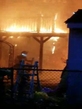 A fire destroyed a home at 146 Winthrop Road, Edison, across the street from Washington Elementary School.
