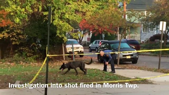 Police are in Morristown and Morris Township to investigate a shot fired on Friday morning in the township.