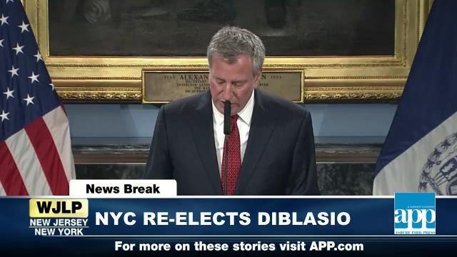 NewsBreak: NYC re-elects Bill DiBlasio