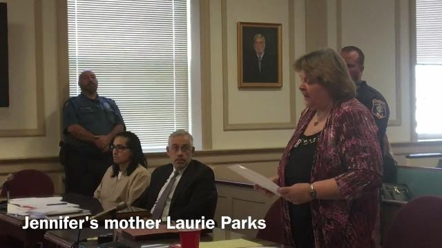 A mother's grief still evident as she confronts James Zarate, who killed her daughter, Jennifer Parks, in Randolph in 2005.
