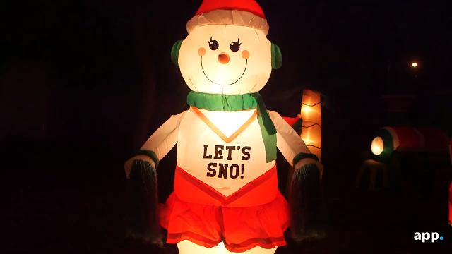 Christmas displays from Basswood Hollow Drive in Toms River and Woodhaven Blvd. in Bayville.
