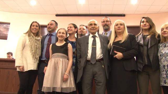 Vito Perillo made national news by defeating incumbent Tinton Falls mayor Gerald Turning. Tonight, the 93-year-old WWII veteran officially takes office.