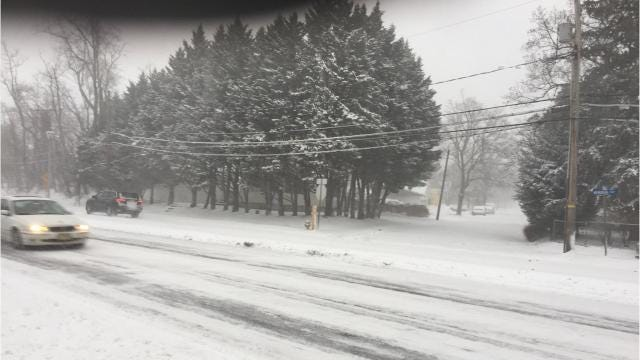 Snowstorm strengthens at the Jersey Shore