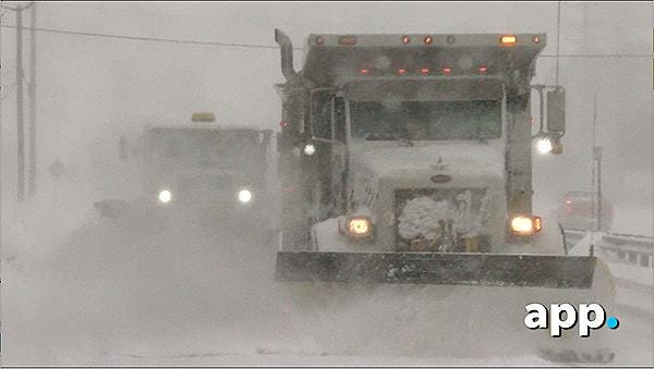 Snow plows battle blizzard along Route 70 in Brick