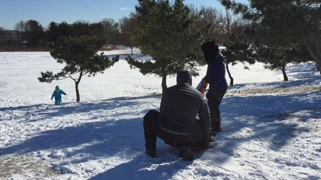 Sledding in Toms River