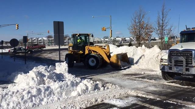Raw video: Snow removal in Belmar