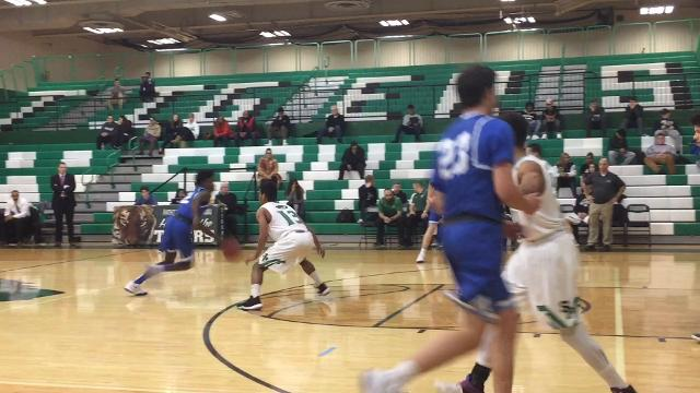 The Scotch Plains-Fanwood boys basketball team defeated South Plainfield in the Anthony J. Cotoia Holiday Tournament final 64-47 on Dec. 27, 2017.