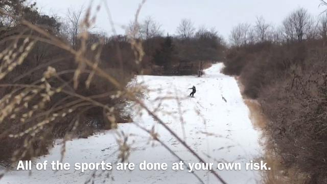 WATCH: Snowboarding at Round Valley