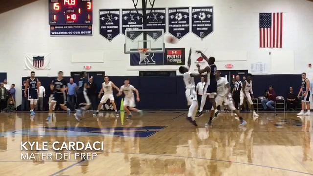 WATCH: Some of the top plays from Ranney School boys basketball vs Mater Dei Prep (Part 1)