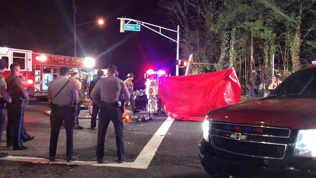 RAW VIDEO: Toms River motor vehicle accident