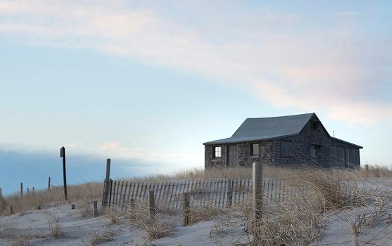 Just Go Outside: Island Beach State Park during recent freezing temperatures.