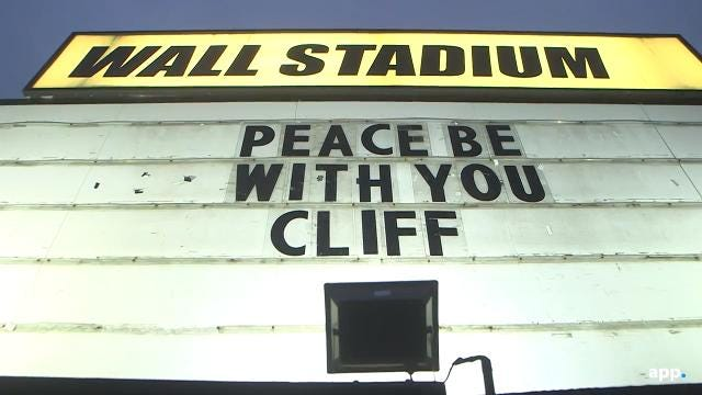 A vigil at Wall Stadium