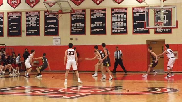 The Hunterdon Central boys basketball team defeated Watchung Hills 48-37 to win the Skyland Conference Raritan Division title on Thursday, Feb. 1, 2018.