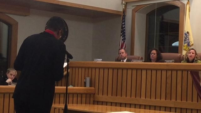 Martha Barnhill of Haven Beat the Streets Ministry, urged the Township Council Feb. 13 to consider using the Red Carpet Inn as a shelter for the homeless.
