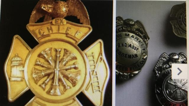 A long-forgotten Long Branch fire chief's badge reappeared on E-Bay and was sold to a collector for $1,999.