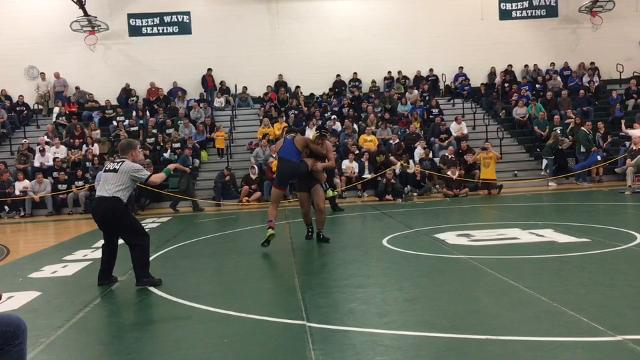 Lakewood junior 220-pounder Dante Morris became the Piners' first district champion since 2010