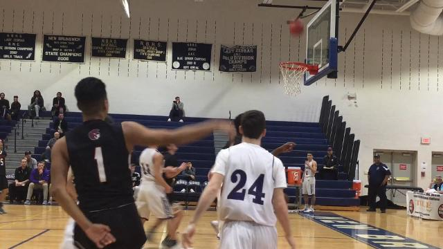 The third-seeded Old Bridge boys basketball team advanced to the GMC Tournament semifinals with a 68-42 win over No. 6 Bishop Ahr on Sunday, Feb. 18, 2018.