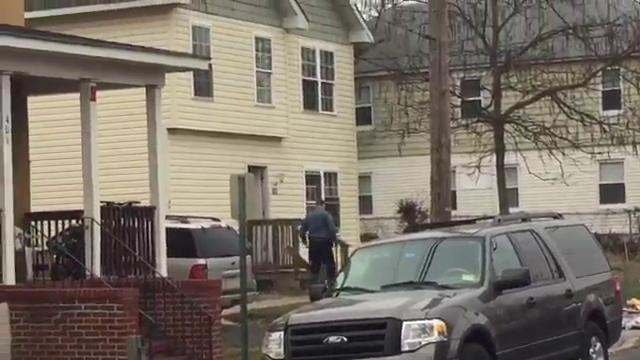 RAW: Ridge Avenue shooting scene