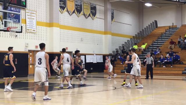 The seventh-seeded Colonia boys basketball team advanced to the GMC Tournament final with a 47-30 victory over third-seeded Old Bridge on Tuesday, Feb. 20, 2018.