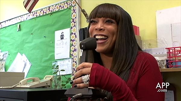 A LOOK BACK: Talk show host Wendy Williams visits the Asbury Park Middle School to donate supplies for the teachers there in 2010.