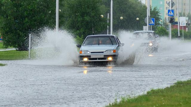 Even just a foot of moving water can be powerful enough to carry a car.