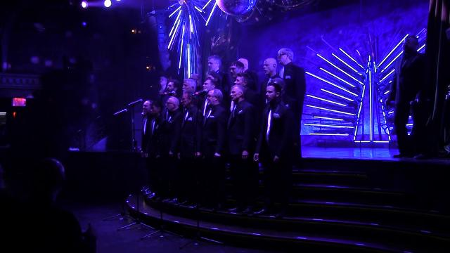 The New York Gay Men's Chorus performs \u0022Empire State of Mind\u0022 at a fundraiser.