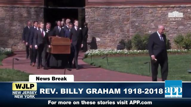 NewsBreak: Funeral of Rev. Billy Graham; Nor'Easter pounds NJ Shore