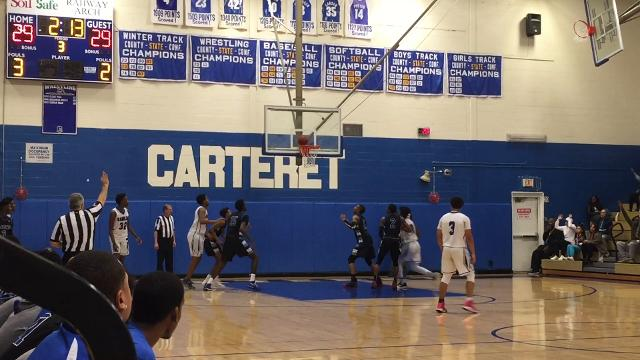 The third-seeded Carteret boys basketball team advanced to the Central Group II final for the first time since 2002 with a 46-45 victory over No. 10 Lincoln on Saturday, March 3, 2018.