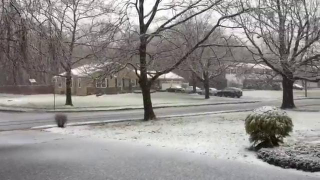 RAW: Snow falls in Freehold Township