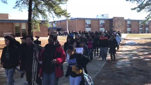National School Walkout: Lakewood High School students pour out of school