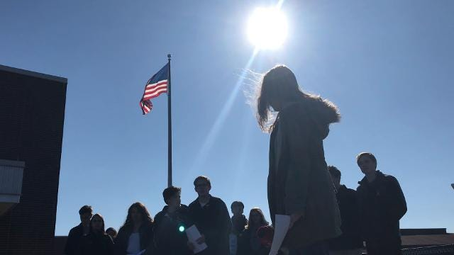 National School Walkout: Communications High School students read names of Parkland, FL victims