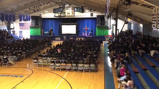 National School Walkout: Donovan Catholic High School hold prayer service
