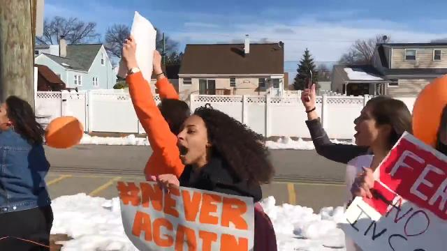 A look at walkouts at Linden, Monroe, Highland Park and South Plainfield high schools, a prayer service at Immaculata High School in Somerville, and both at Bishop Ahr High School in Edison.