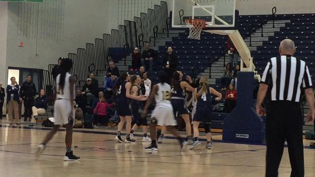 The third-seeded Franklin girls basketball team advanced to the Tournament of Champions semifinals with a 56-45 victory over No. 6 Old Tappan on Wednesday, March 14, 2018.