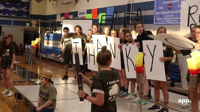 Squan-A-Thon is a 12-hour overnight dance-a-thon for students of Manasquan High School that annually raises more than $100,000 for pediatric cancer.