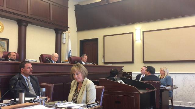 Monmouth County freeholders attacked each other for considering raising their own pay and taking health benefits for themselves as they raised property taxes for 2018. Video by Susanne Cervenka