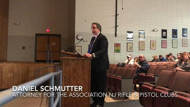 Gun advocates and angry residents said Lacey school officials violated students' Second Amendment rights. Here are scenes from Monday's meeting in Lacey Township High School.