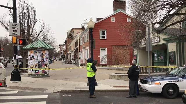 Authorities in New Jersey say an armed man is holed up in a restaurant across the street from Princeton University's campus, according to the Associated Press.