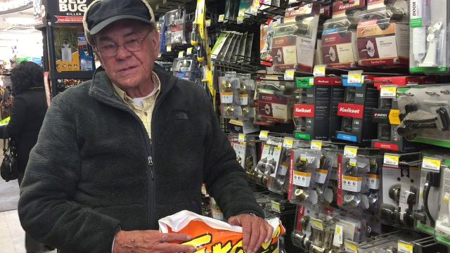 At The Hardware Store in Asbury Park the owner says he can't bring in spring inventory yet because of the demand for snow supplies.