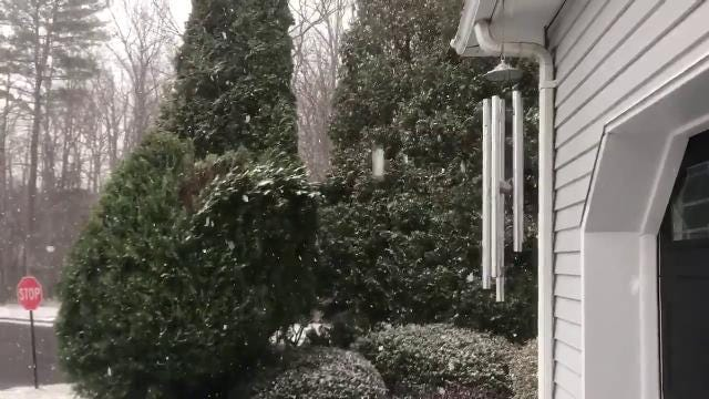 NJ Weather: Snow starts in Old Bridge