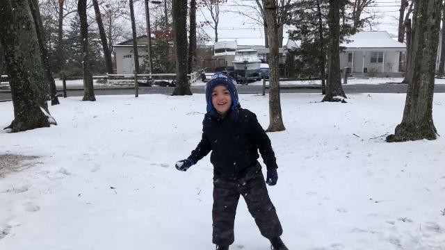 Latest on the snow from Brick, with kids weighing in on how they feel about this spring nor'easter.
