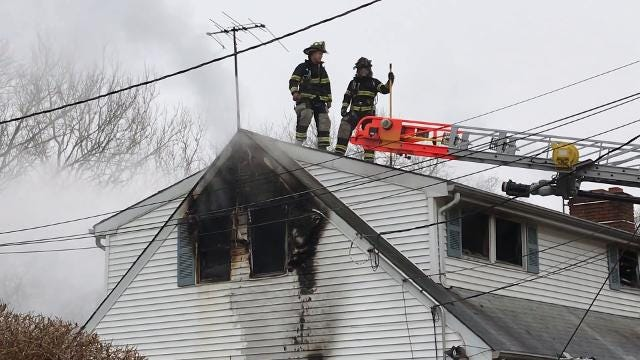 Firefighters knocked down a house fire in Somerville on Wednesday, April 4.