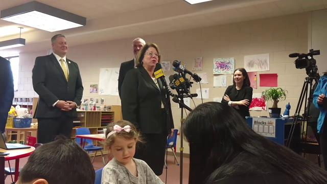 """Gov. Phil Murphy said his tour of the recently expanded Pre-K classes at John F. Kennedy Elementary School on Monday afternoon was """"extraordinary."""""""