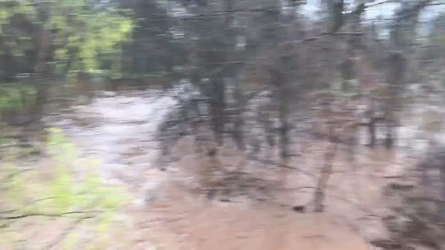 Heavy rain overnight resulted in flooding on Monday.