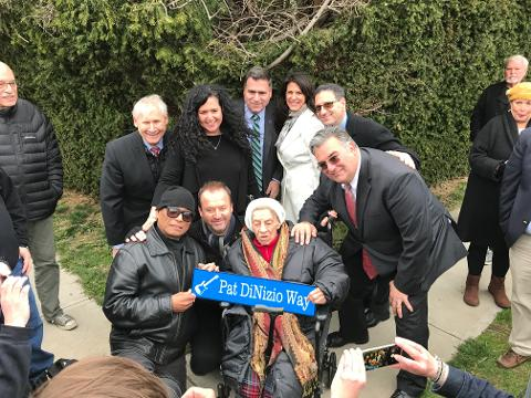 Smithereens attend dedication of Pat DiNizio Way in Scotch Plains on April 17.