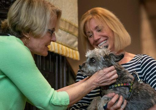 Three seasons of the year, worshipers at St George's By-The-River Episcopal Church in Rumson opens its' door to people and their pets for a church service.