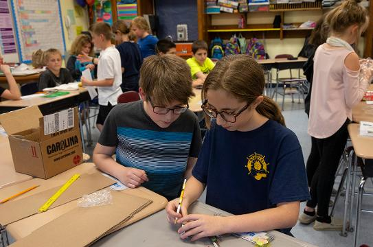 Students at the Priff School in Waretown NJ are making science experiments that will be launched into space and returned to them to to study further.