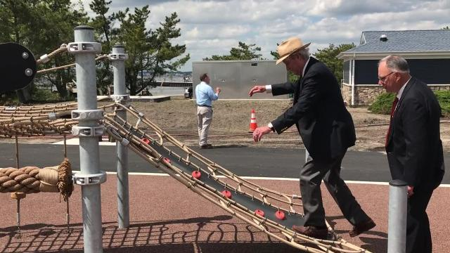 A ribbon-cutting ceremony was held Wednesday afternoon ahead of a planned public opening to the park at about 3:30 p.m. Friday. The park will be open throughout the Memorial Day weekend and then is expected to close intermittently until mid-June so county contractors can add some finishing touches before the start of the actual summer season.
